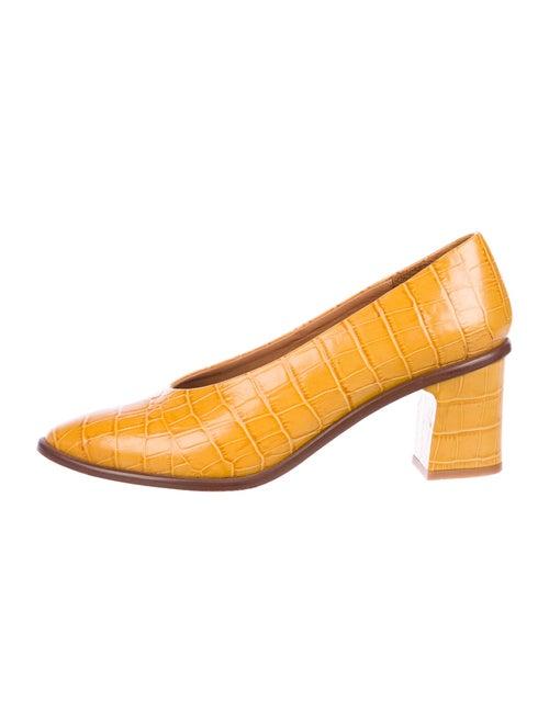 Miista Leather Pumps Yellow