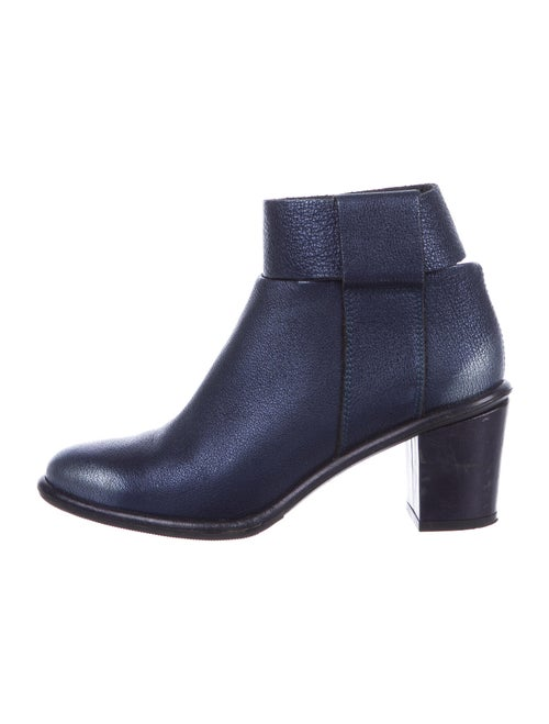 Miista Patent Leather Boots Blue