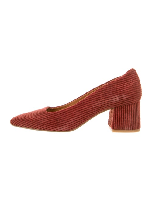 Miista Suede Pumps Red