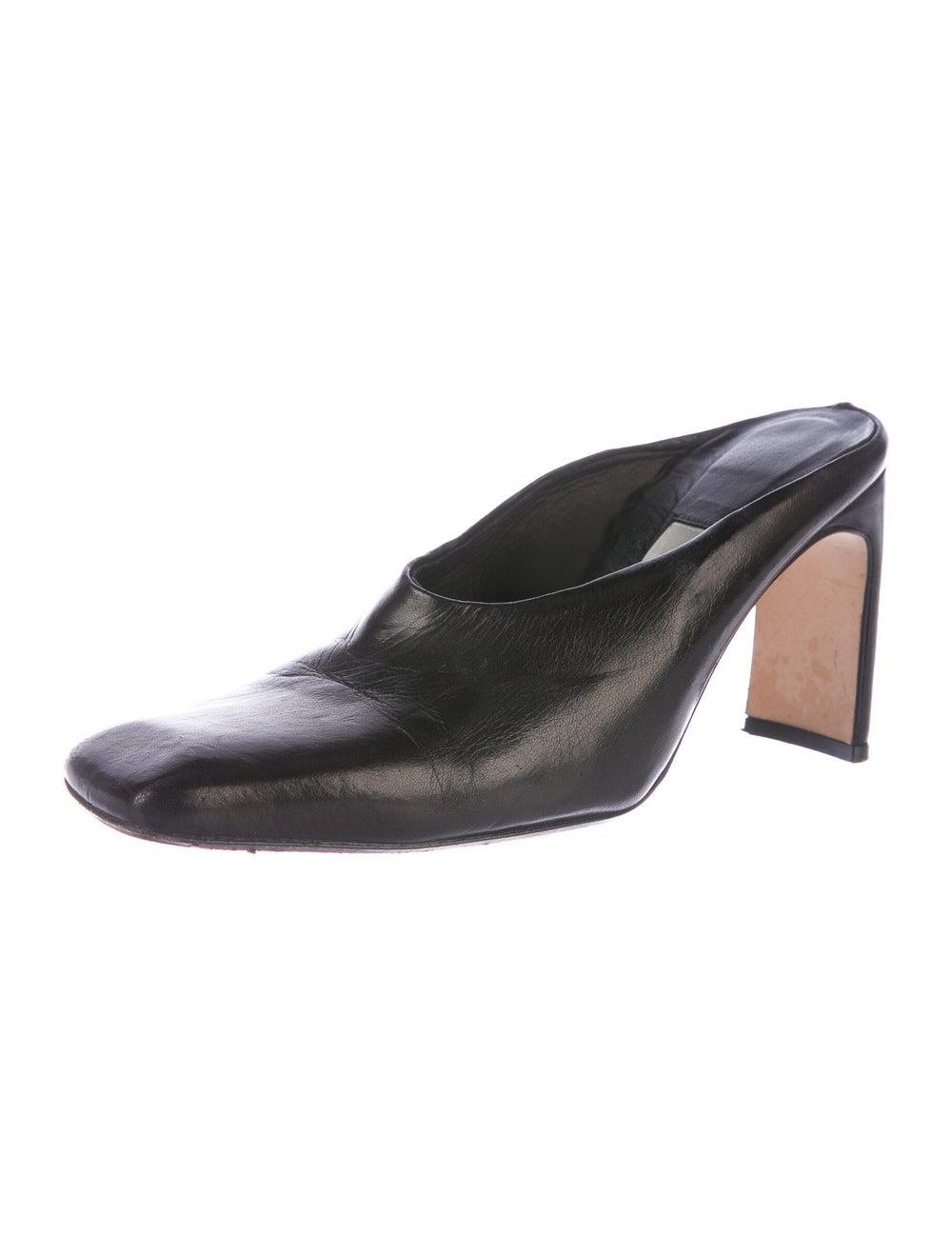 Miista Leather Mules Black - image 2