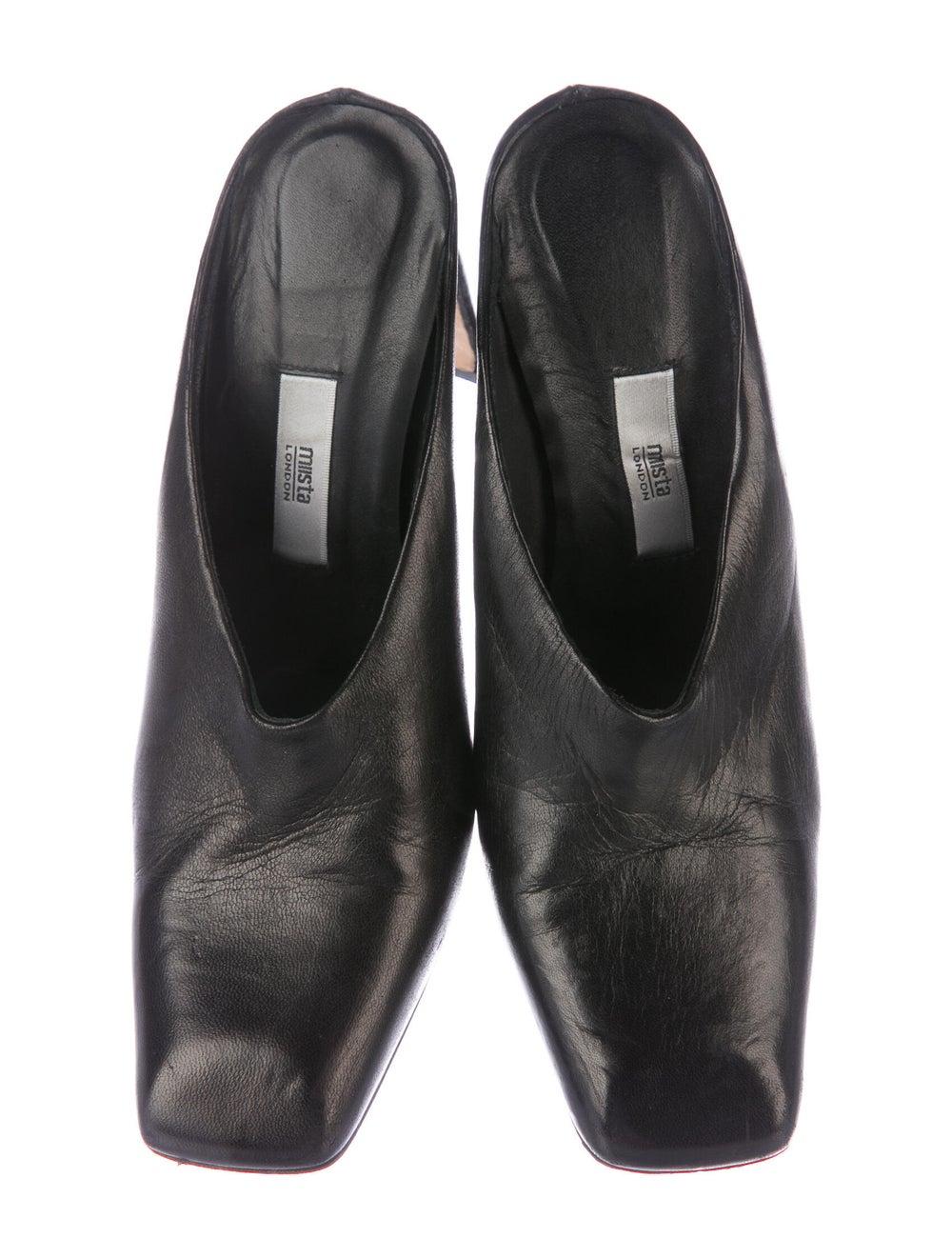 Miista Leather Mules Black - image 3