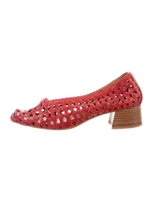 Miista Leather Flats Red - image 1
