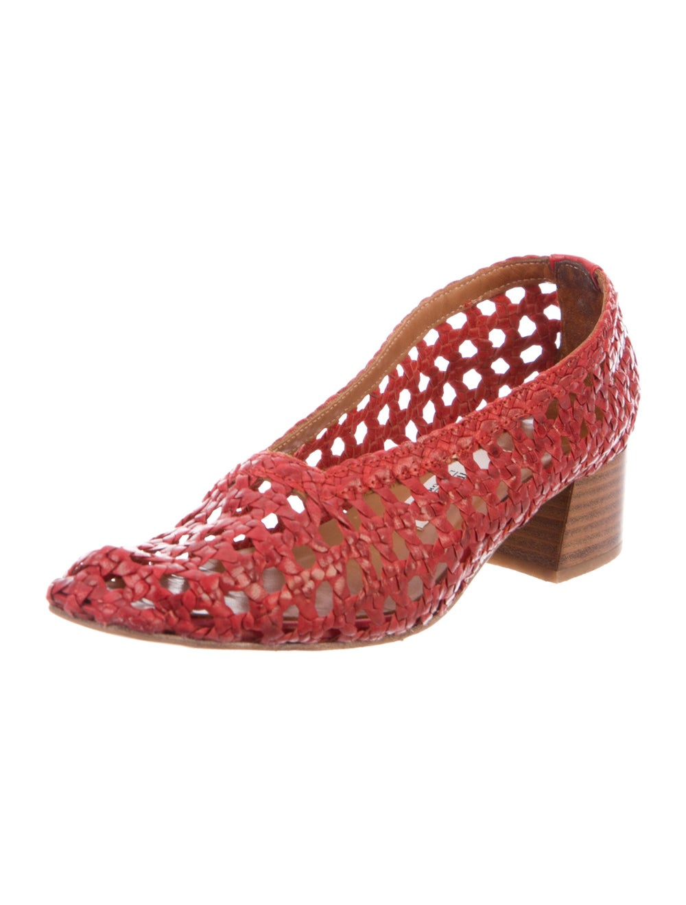 Miista Leather Flats Red - image 2