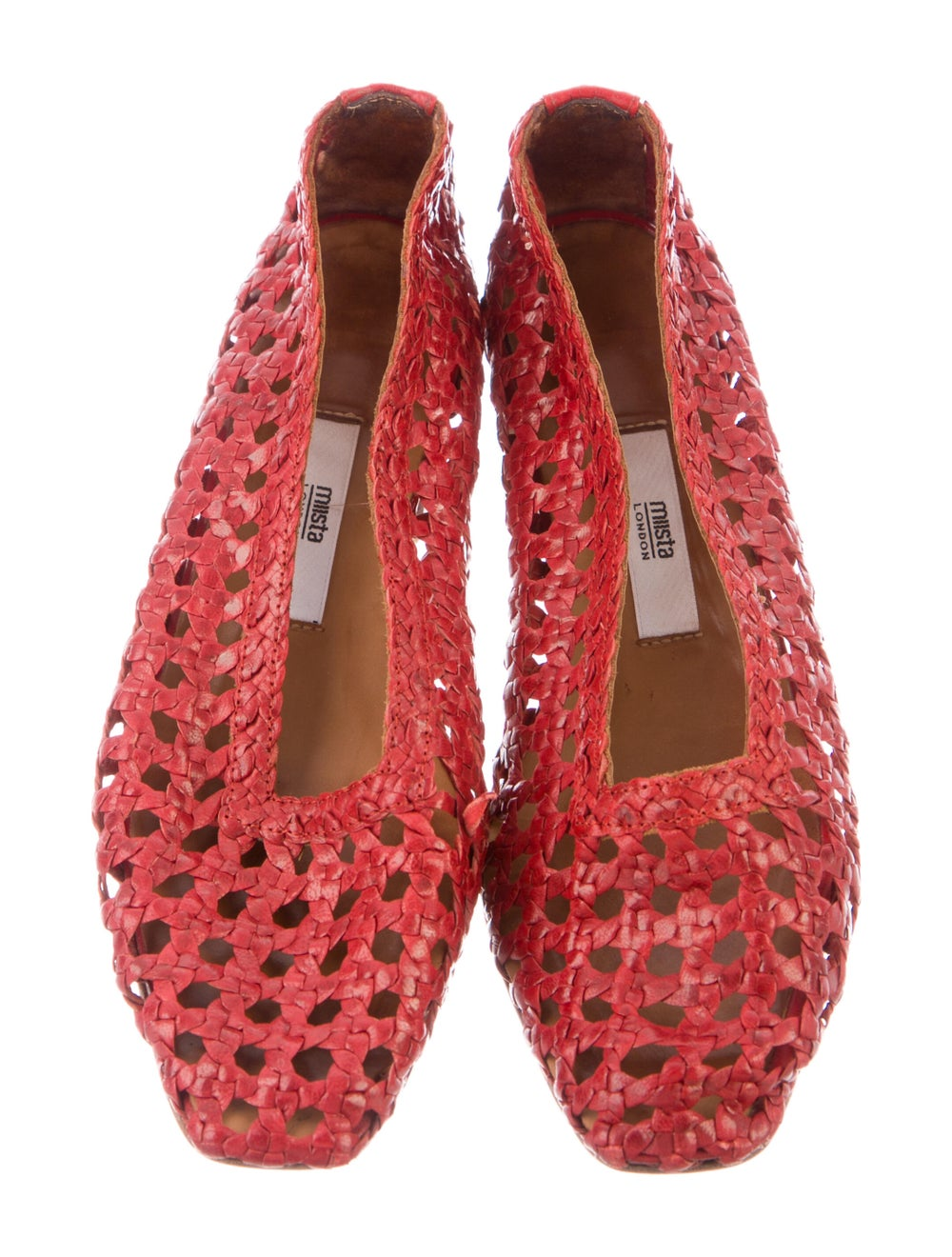 Miista Leather Flats Red - image 3