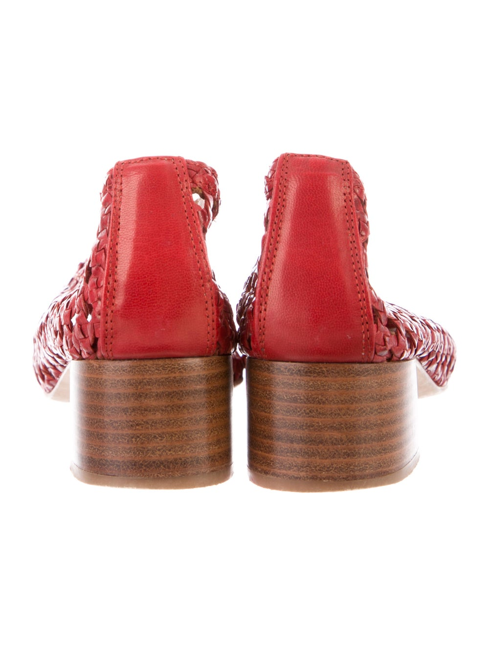 Miista Leather Flats Red - image 4