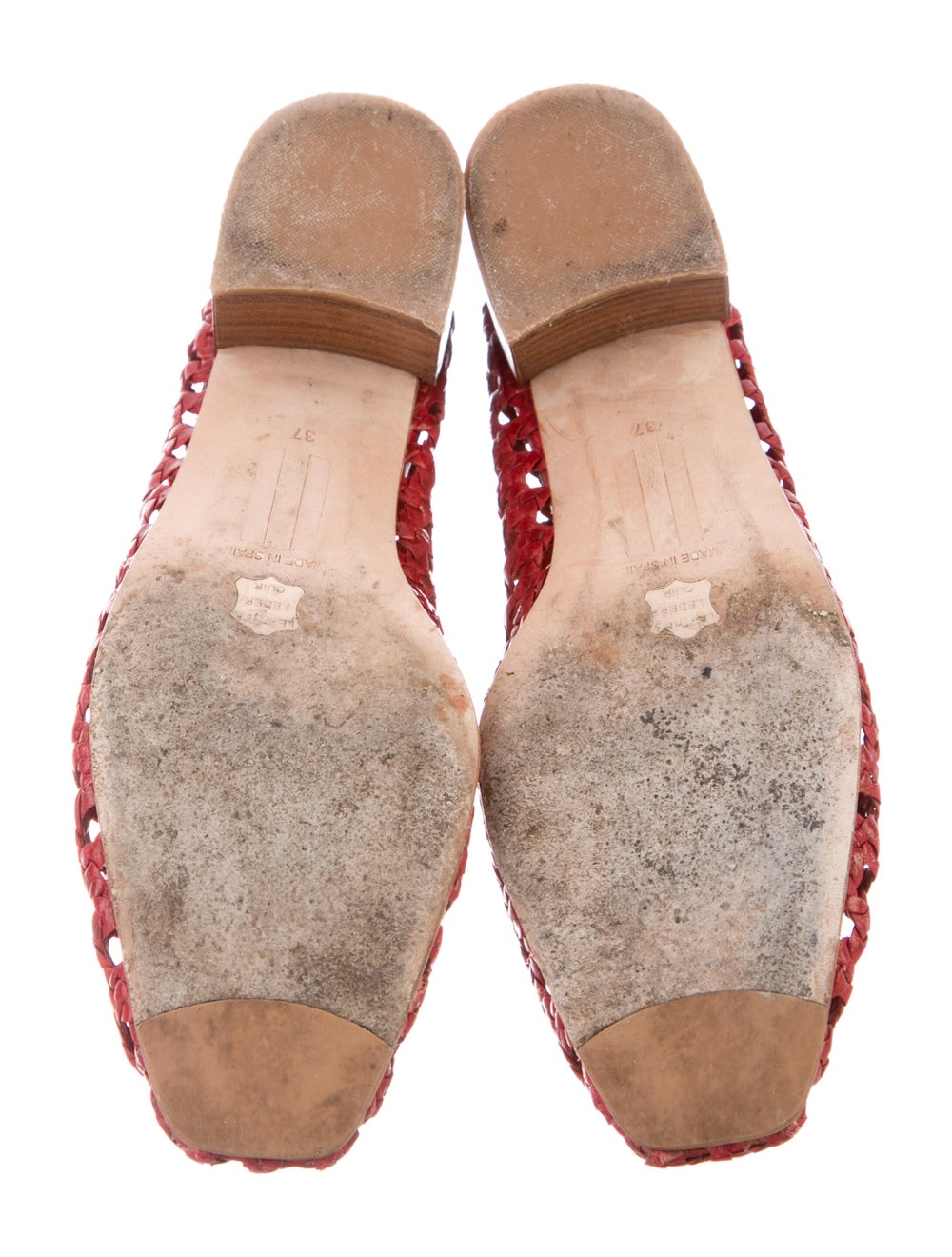 Miista Leather Flats Red - image 5