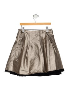 Imoga Girls' Metallic Pleated Skirt