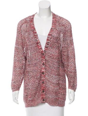 Inhabit Linen Open-Knit Cardigan None