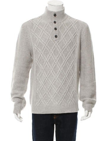 Cashmere Henley Sweater w/ Tags
