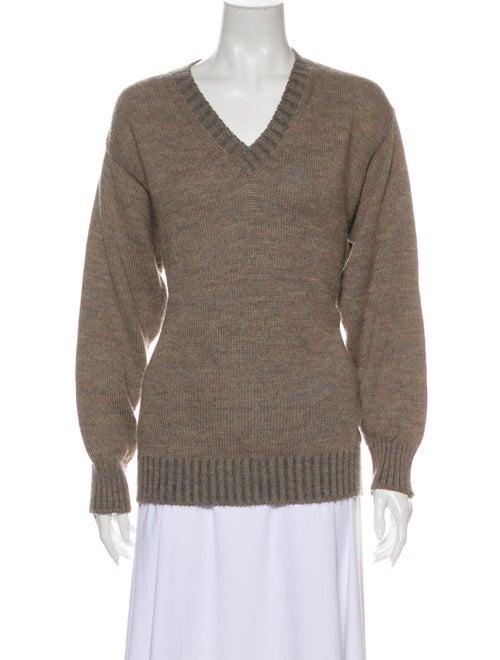 Inis Meáin V-Neck Sweater Brown