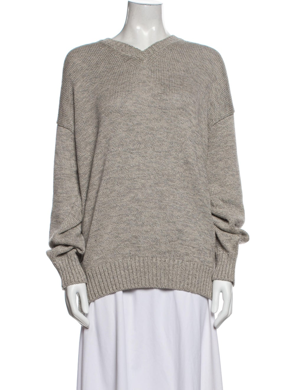 Inis Meáin V-Neck Sweater Grey - image 1