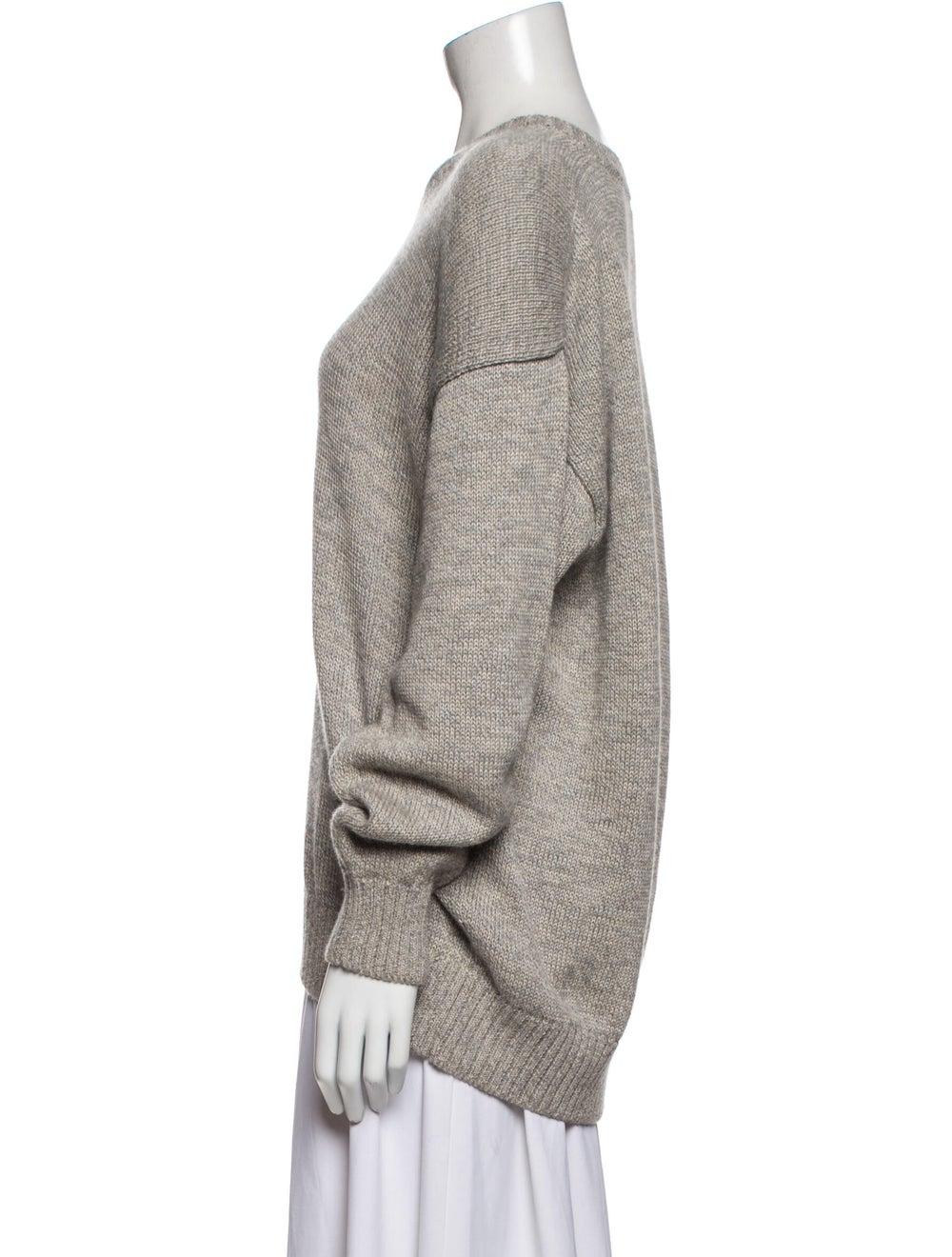 Inis Meáin V-Neck Sweater Grey - image 2