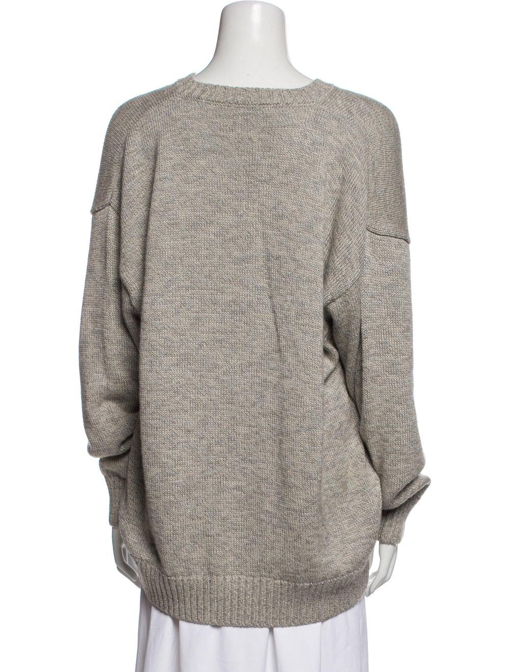 Inis Meáin V-Neck Sweater Grey - image 3