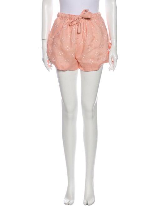 Innika Choo Linen Mini Shorts Pink
