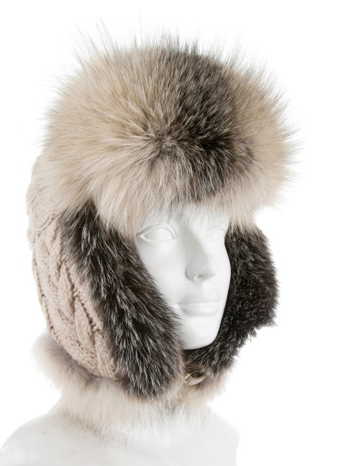 5a5b94a15c3ec2 Inverni Fur-Trimmed Cashmere Hat w/ Tags - Accessories - WINVE20016 ...