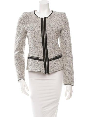 Leather-Trimmed Jacket