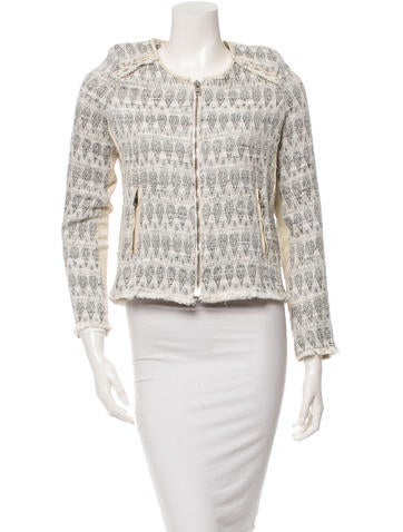 Patterned Long Sleeve Jacket