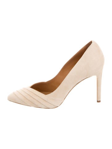 Iro Suede Pointed-Toe Pumps None
