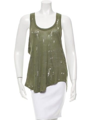 Iro Distressed Doris Top None