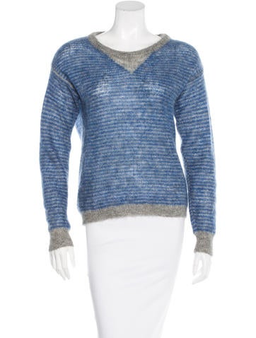 Iro Mohair Striped Sweater None