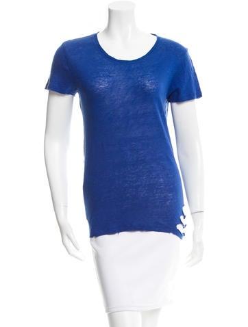 Iro Distressed Poppy T-Shirt None
