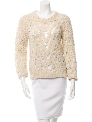 Iro Open Knit Wool Sweater None
