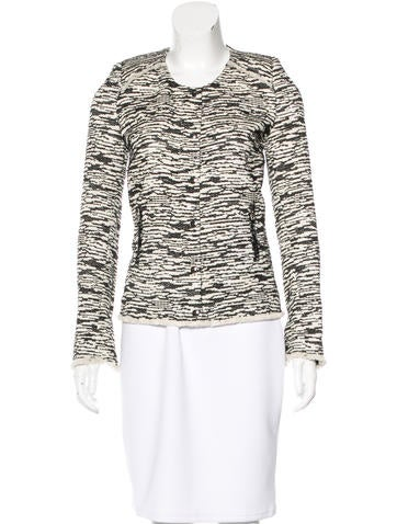 Iro Knit Raw-Edge Jacket None