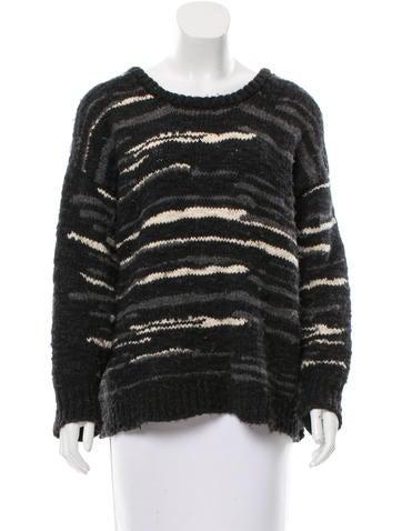 Iro Wool Rib Knit Sweater None