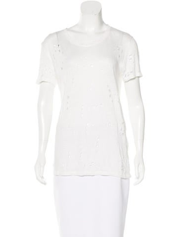 Iro Distressed Linen Top None