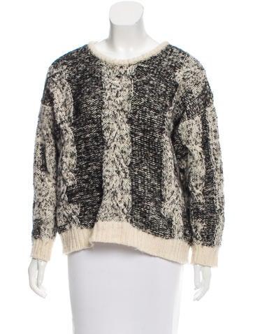 Iro Wool-Blend Rib Knit Sweater None