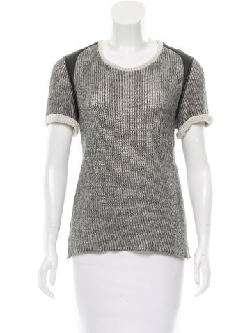 Iro Rib Knit Leather Trimmed Sweater None