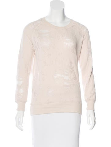 Iro Distressed Long Sleeve Sweatshirt None