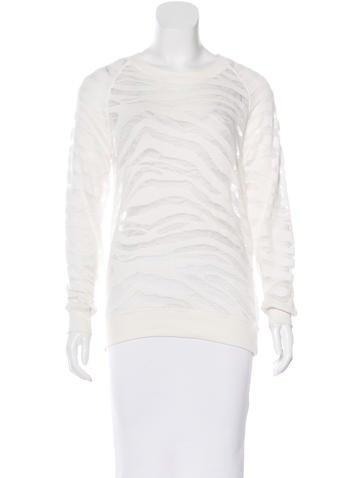 Iro Printed Knit Sweatshirt None