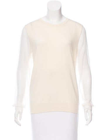 Iro Silk-Accented Wool Top None