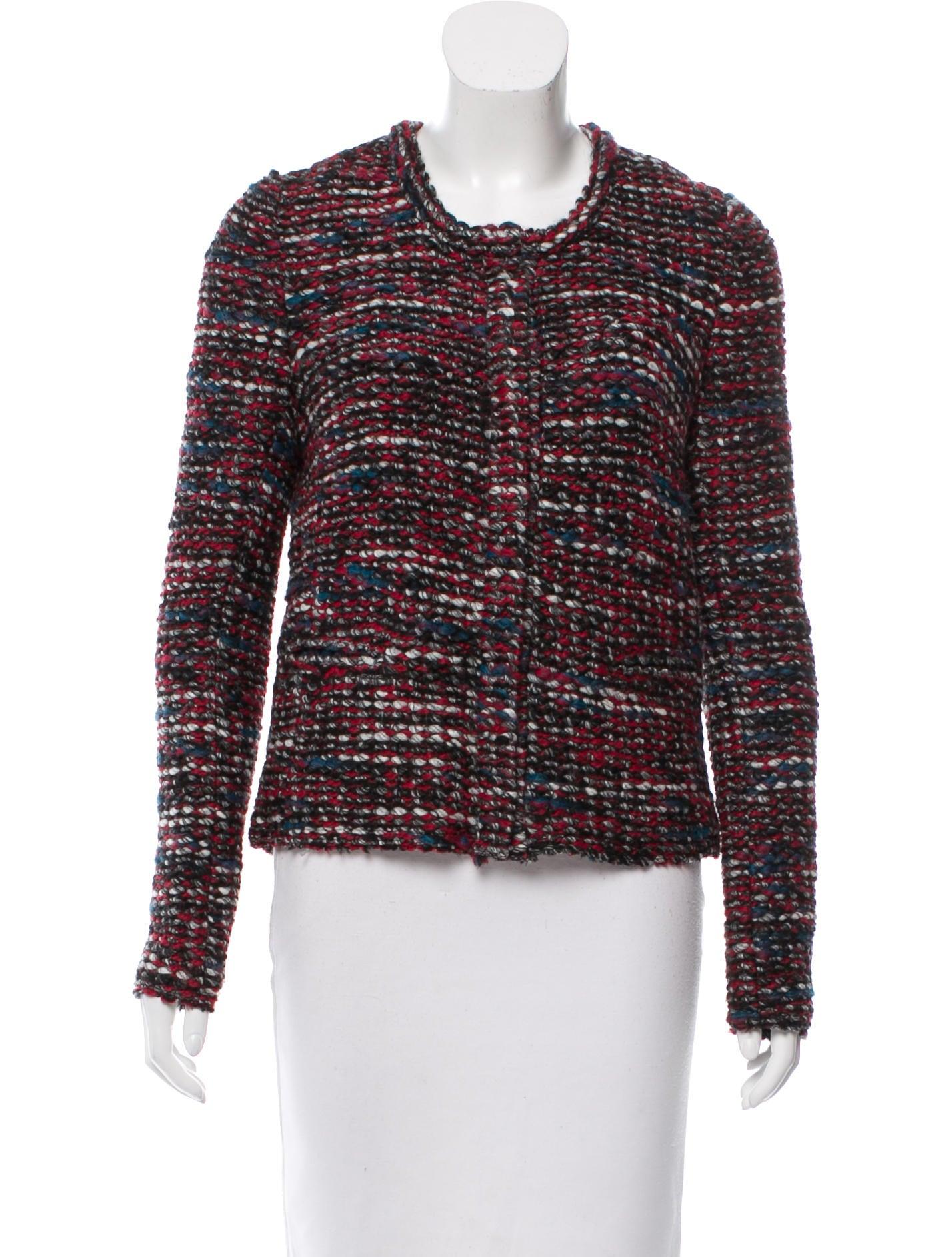 Iro Bouclé Collarless Jacket - Clothing