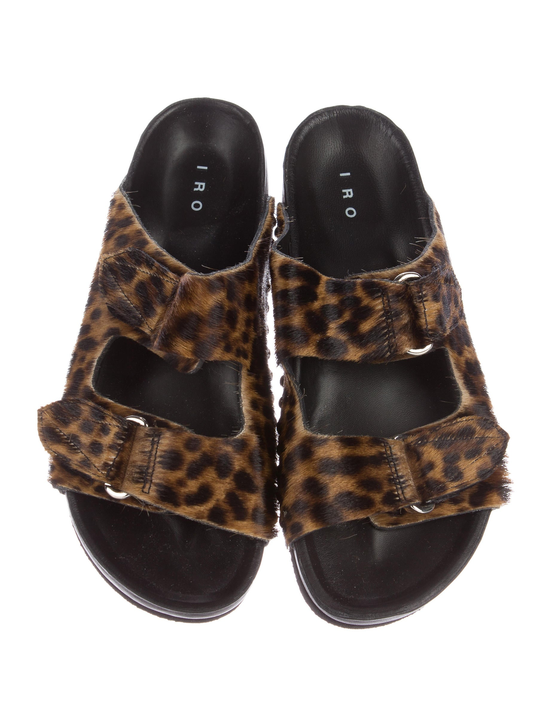 Iro Leopard Print Slide Sandals Shoes Wir30711 The