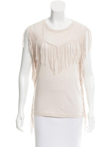 Iro Sleeveless Fringe-Trimmed Top None