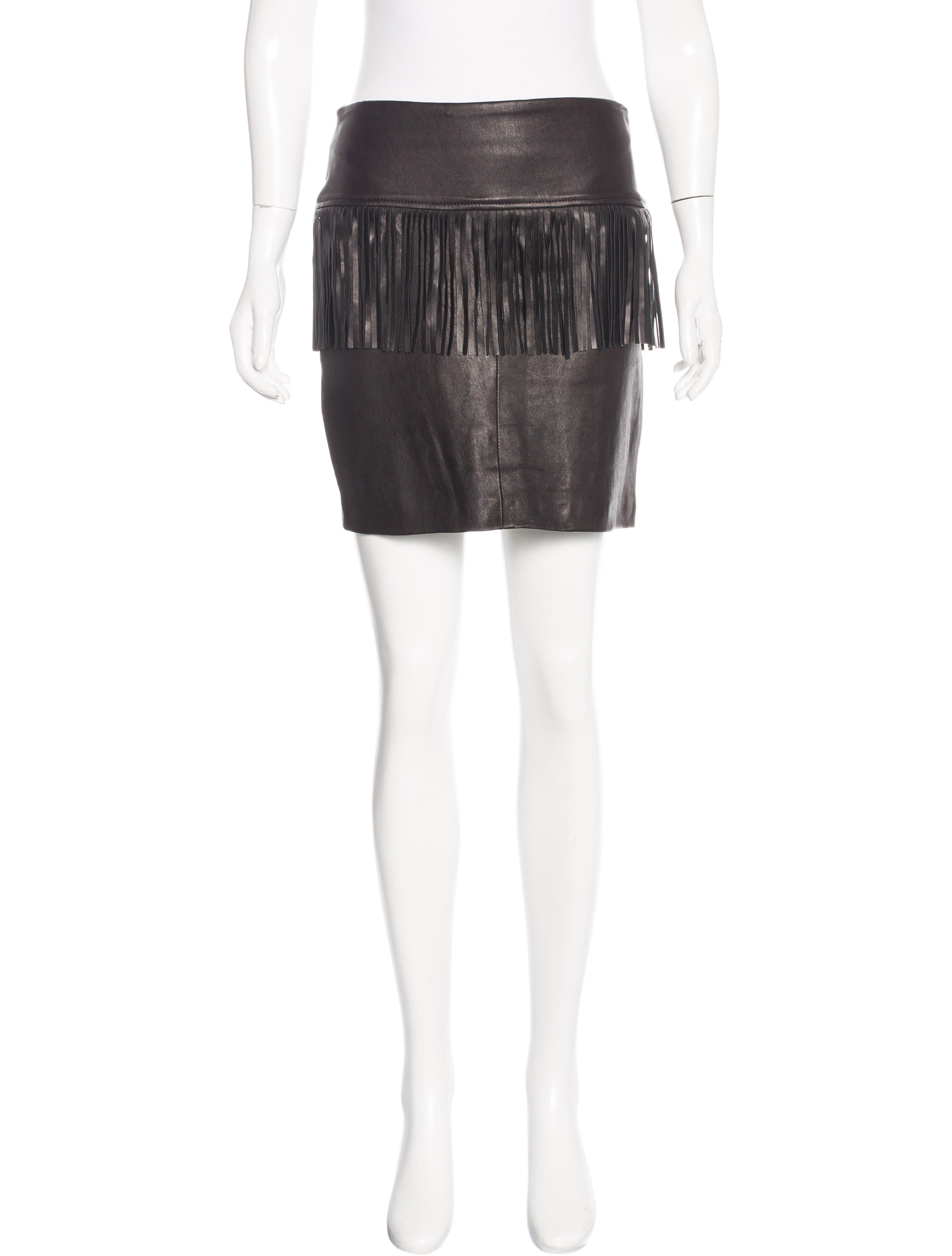 Leather Fringe Skirt 97
