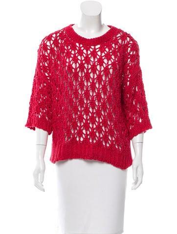 Iro Open Knit Rib Knit Sweater None