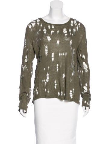 Iro Distressed Pullover Sweater None