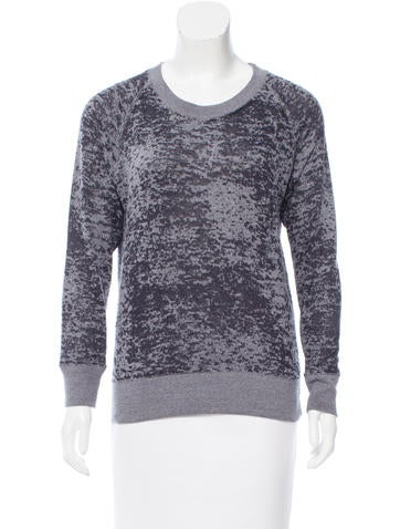 Iro Textured Pullover Sweatshirt None