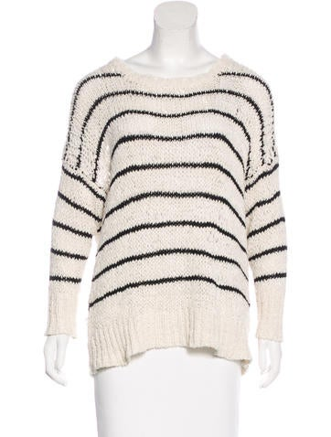 Iro Striped Long Sleeve Sweater None