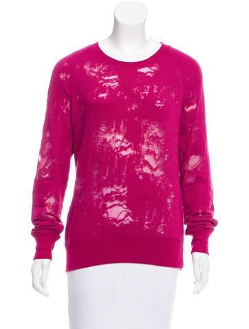 Iro Distressed Sweatshirt None