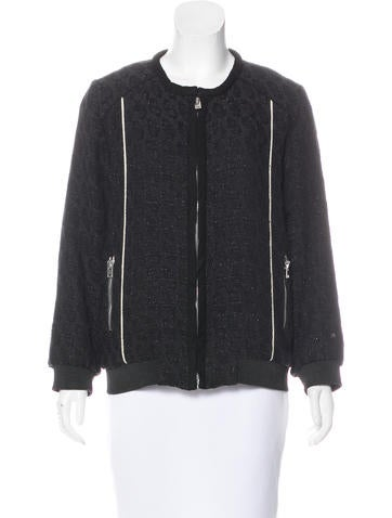 Iro Kayden Leather-Trimmed Jacket None