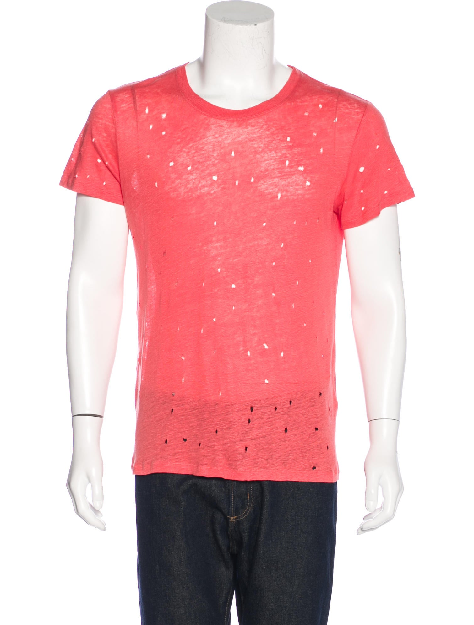 Iro distressed linen t shirt clothing wir33845 the for How to make a distressed shirt