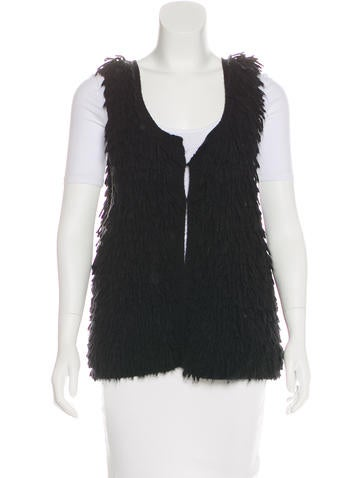 Iro Fringe Knit Vest None
