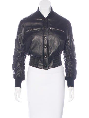 Iro Leather Bomber Jacket None