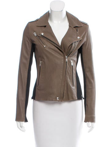 Iro Vikaspe Leather Jacket None
