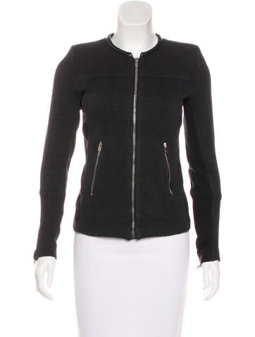 Iro Clever Leather-Accented Jacket None