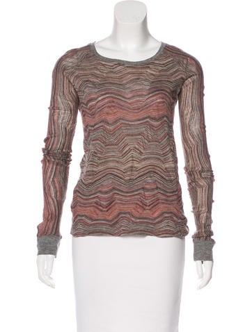 Iro Patterned Long Sleeve Top None